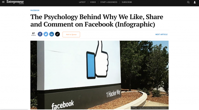 Psychology behind why we like, share and comment on Facebook