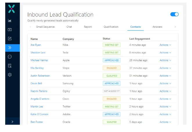 Exceed.ai Inbound Lead Qualification