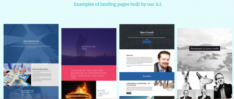Firedrop.ai Landing Pages Examples