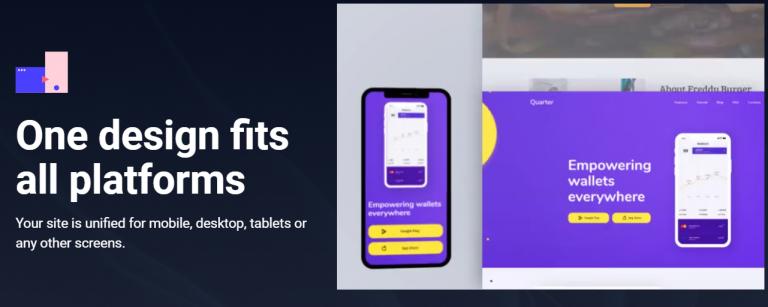 Weblium One Design Fits All Platforms Black and White Mobile