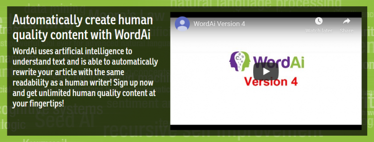 Word AI Version 4 Video