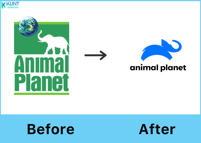 animal planet rebranding logo before and after