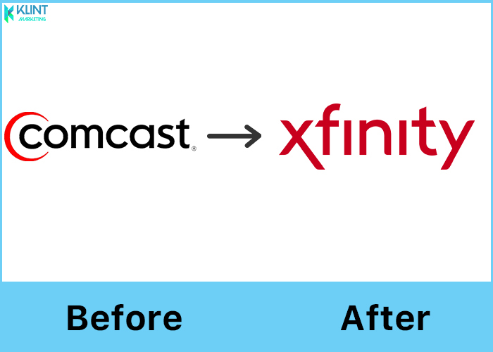 comcast rebranding before and after