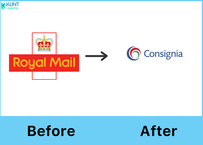 royal mail rebranding logo before and after