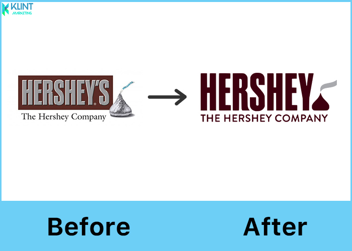 hershey's rebranding before and after