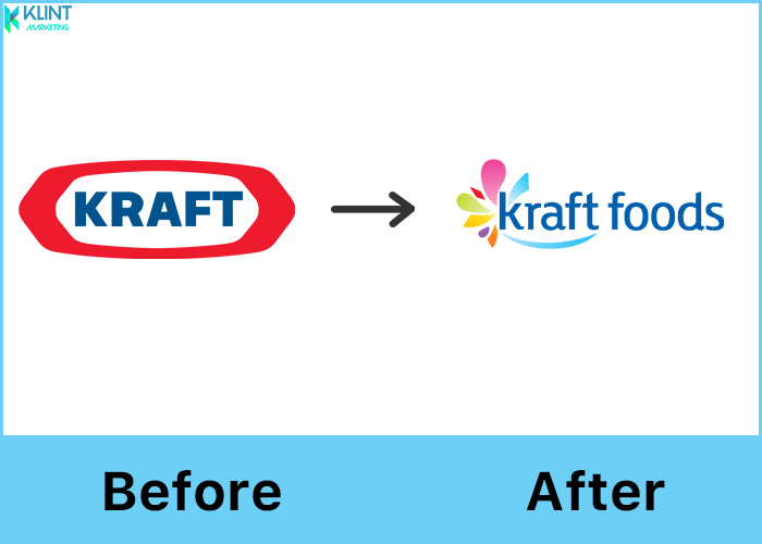 kraft rebranding before and after