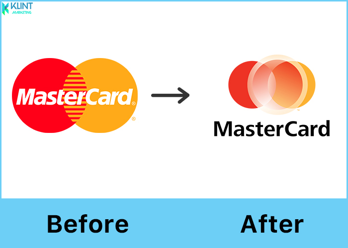 mastercard rebranding logo before and after