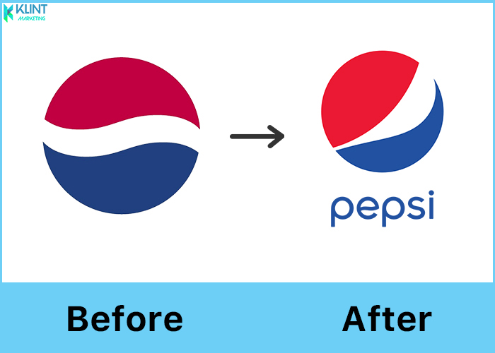 pepsi rebranding logo before and after