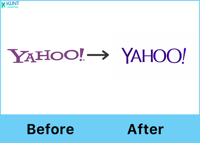 yahoo! rebranding before and after