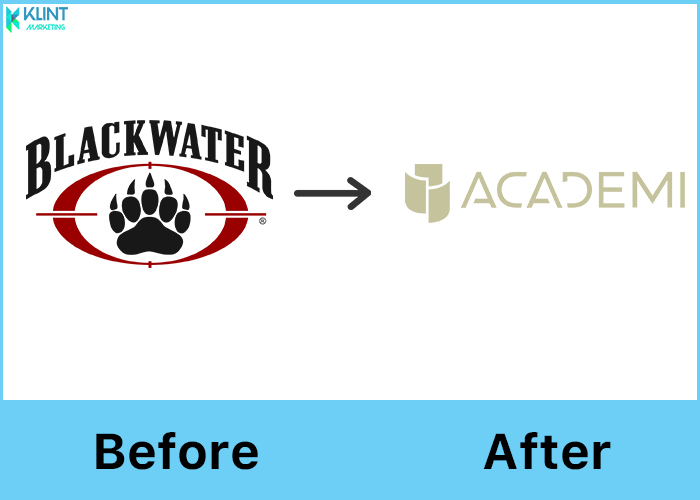 blackwater rebranding before and after