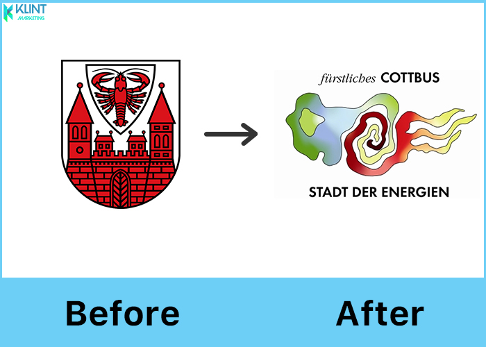 cottbus rebranding before and after