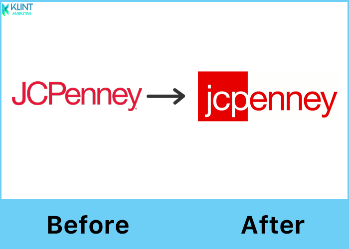 jcpenney rebranding before and after