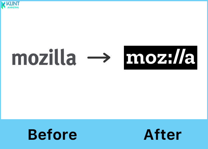 mozilla rebranding before and after