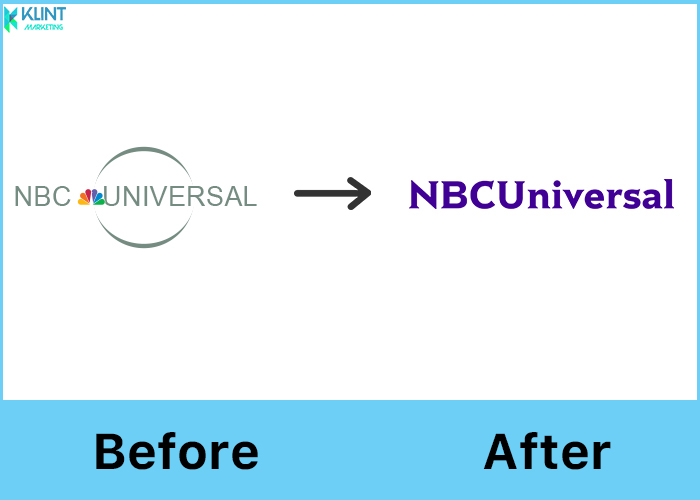 nbcuniversal rebranding before and after