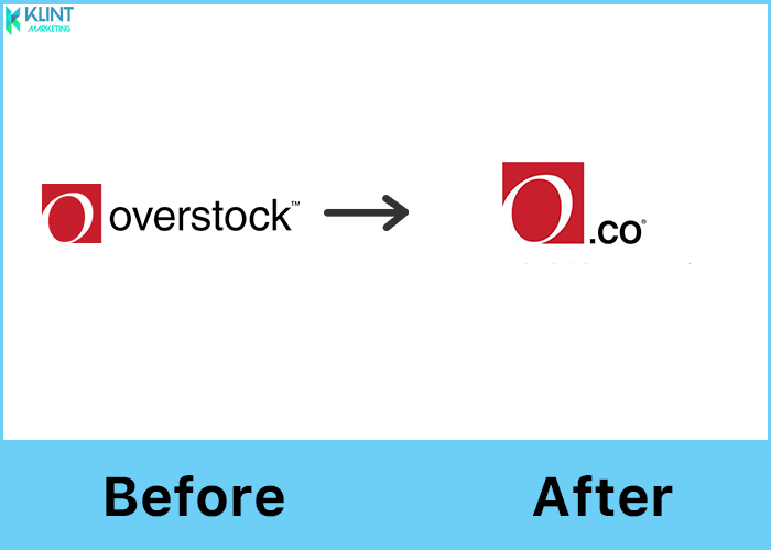 overstock rebranding before and after