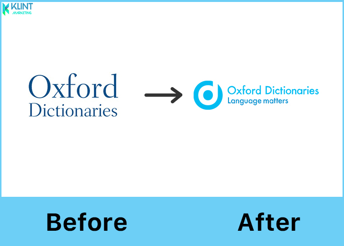 oxford dictionaries rebranding before and after