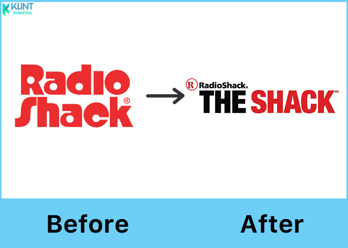 radioshack rebranding before and after