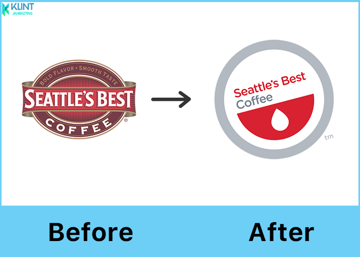 seattle's best coffee rebranding before and after