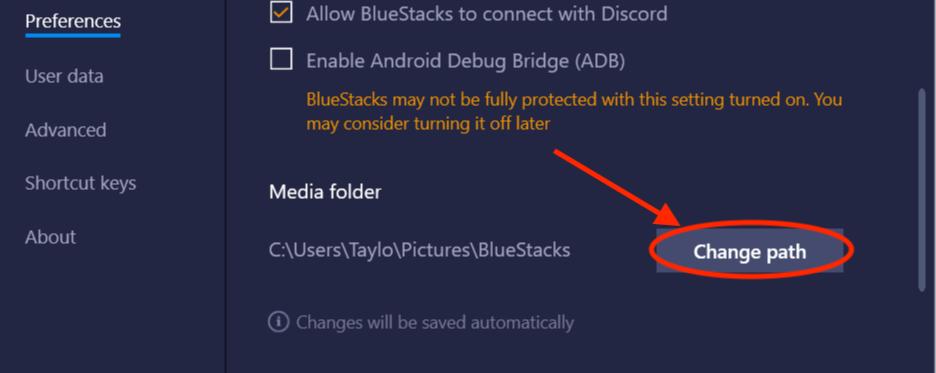 choose blue stacks TikTok app settings