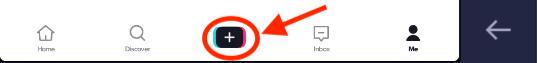 TikTok icons upload video
