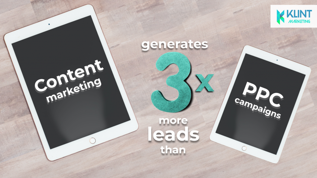 growth hacking statistics show that content marketing generates leads