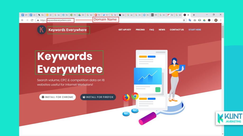 keywords for landing page