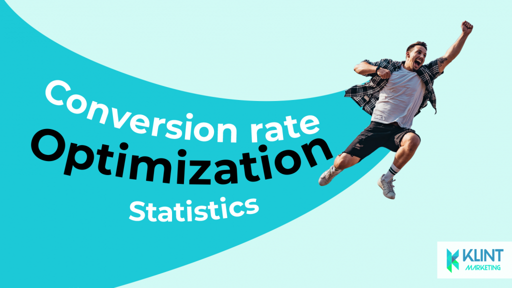 Conversion rate optimisation, growth hacking statistics, image by Klint Marketing
