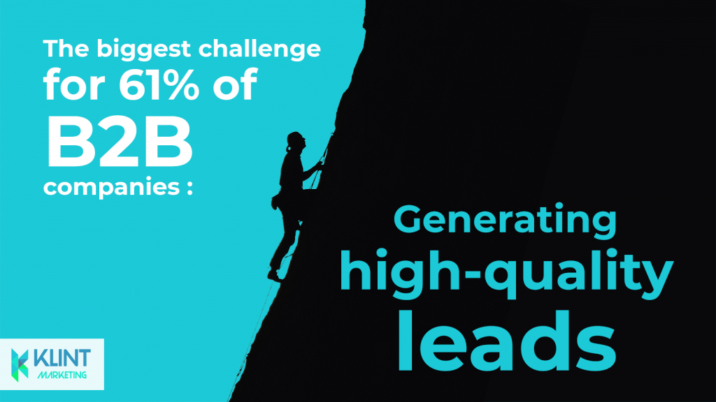 B2B lead generation statistics, image by Klint Marketing