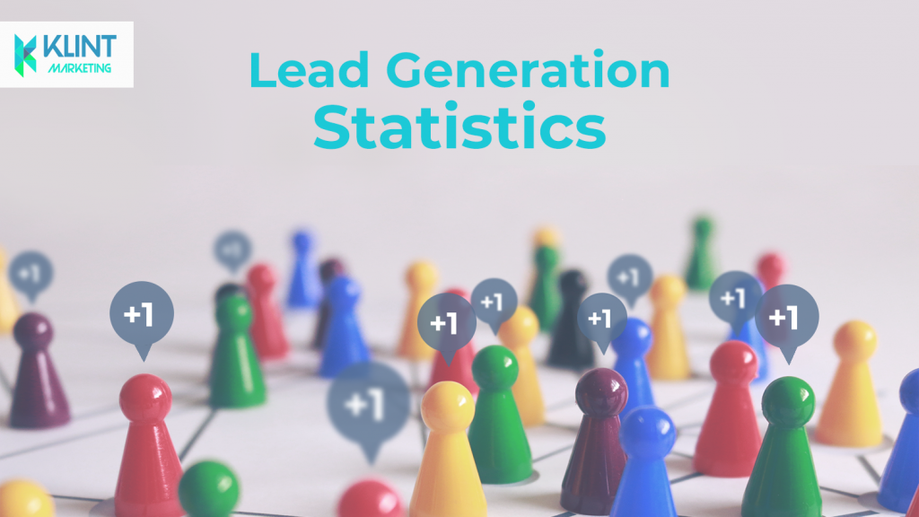 Lead generation statistics, image by Klint Marketing