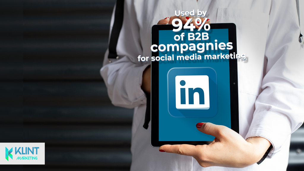 Linked in B2B statistics, image by Klint Marketing