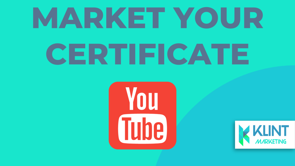 market your youtube certification