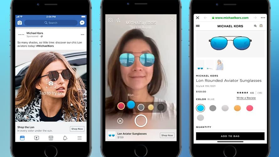 michel kors lenses for virtual shopping