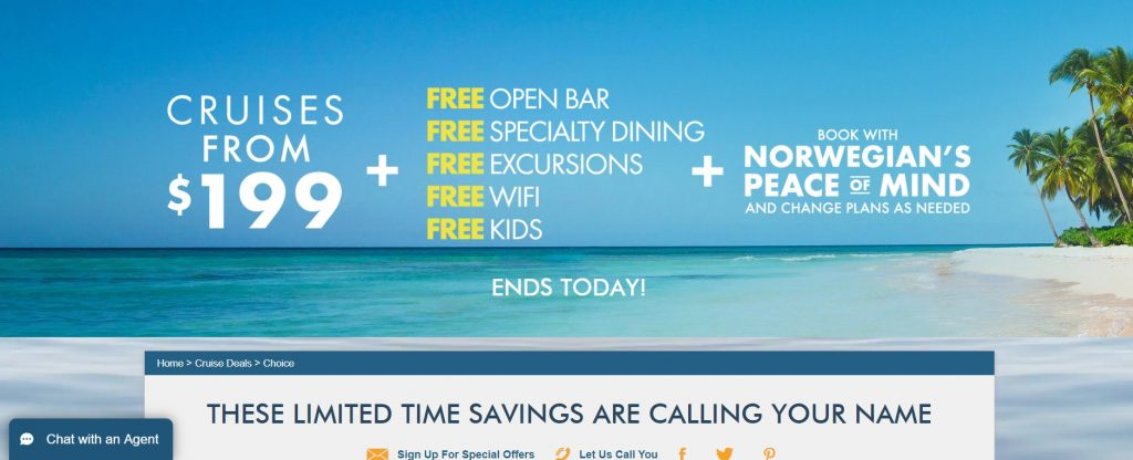 Norwegian Cruise Lines #FeelFreetoFeelMore campaign
