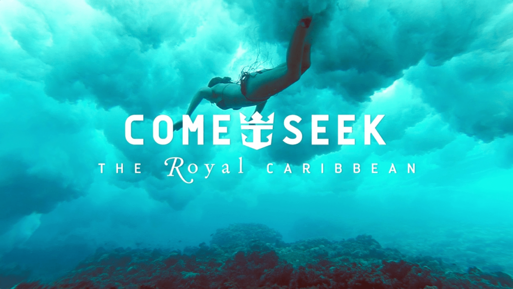 royal Caribbean advertisement - come seek live campaign