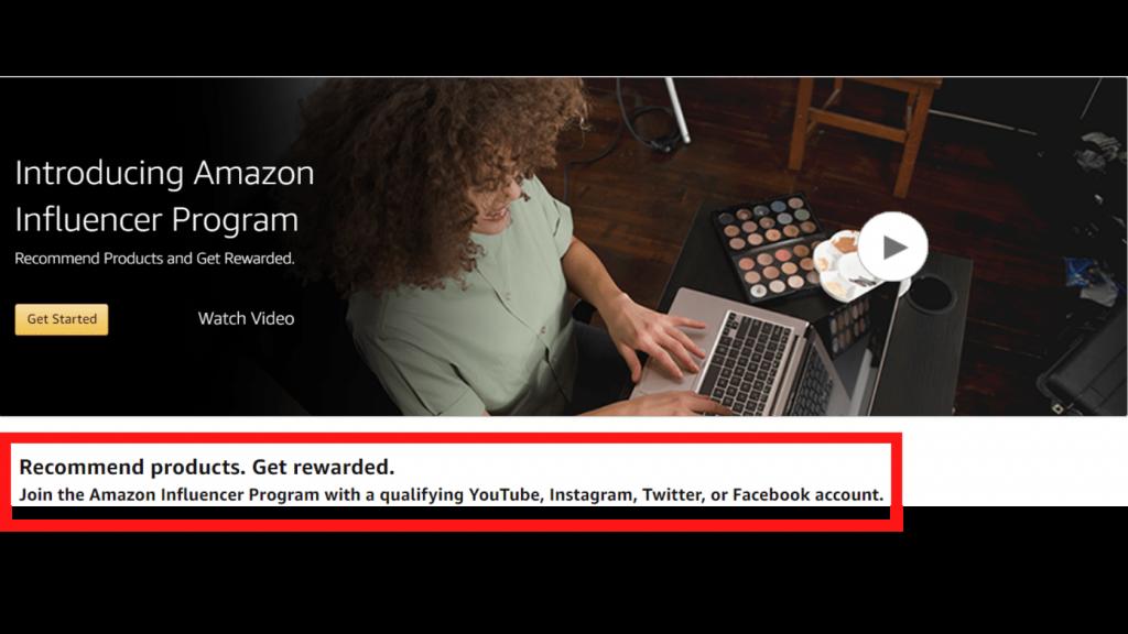 Start With amazon Influencer program