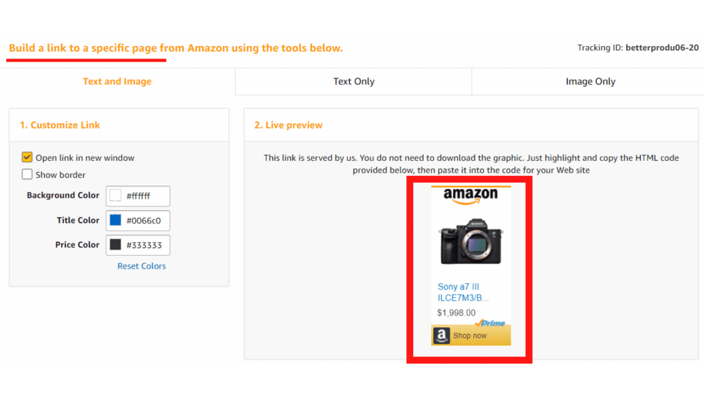 Set up your amazon store front