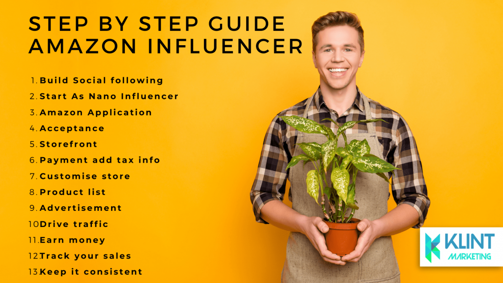 Step by step guide for Amazon influencers