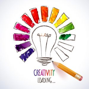 Content creators creativity rainbow light bulb loading
