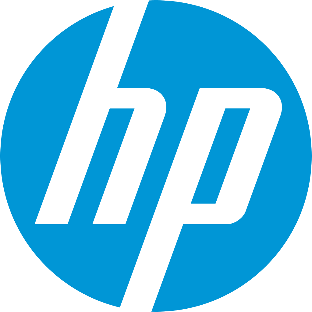 HP Logo. Companies started in a Recession.