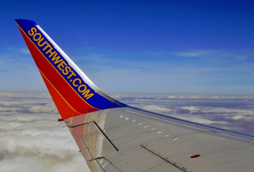 Southwest Airline Plane Wing