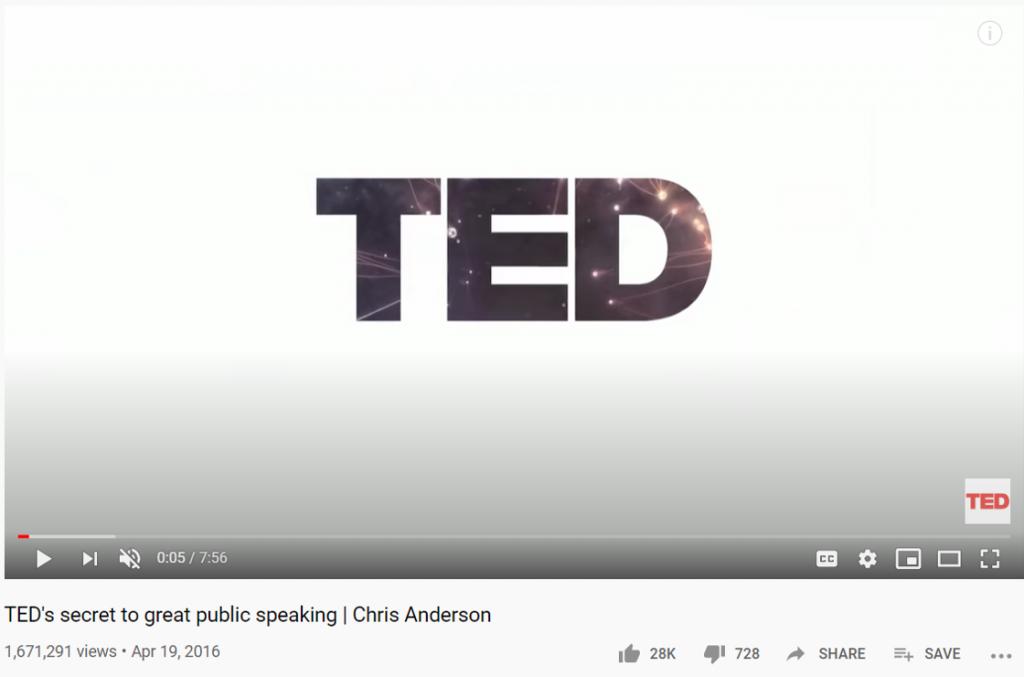 Speaker content TEDtalk Secrets to great public speaking Chris Anderson Youtube