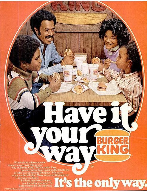 Burger King advert 1973. Companies started in a Recession.