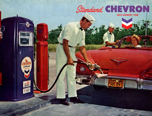 Chevron Standard Advertisement. Companies started in a Recession.