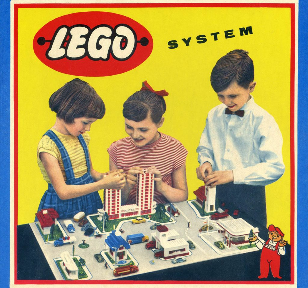 Lego Set Advert. Companies started in a Recession.