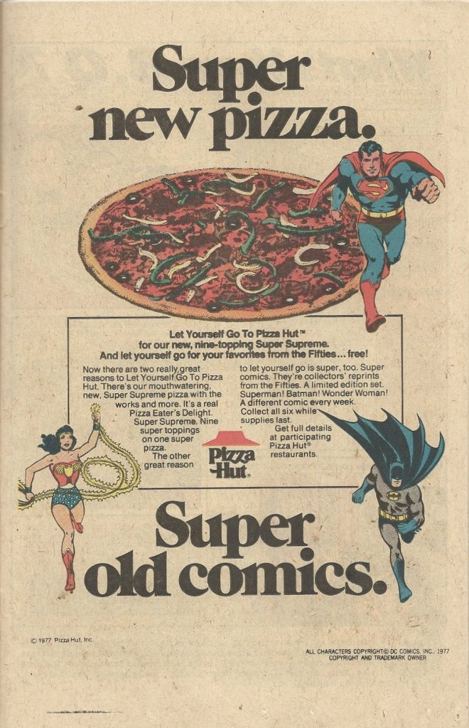 Pizza Hut advert 1977. Companies started in a Recession.