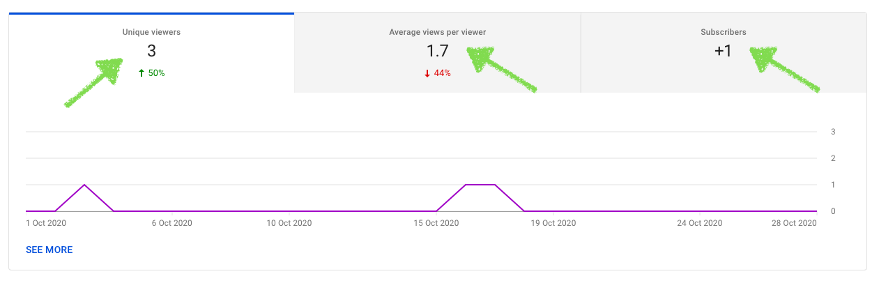 Graphic subscriber views analytics