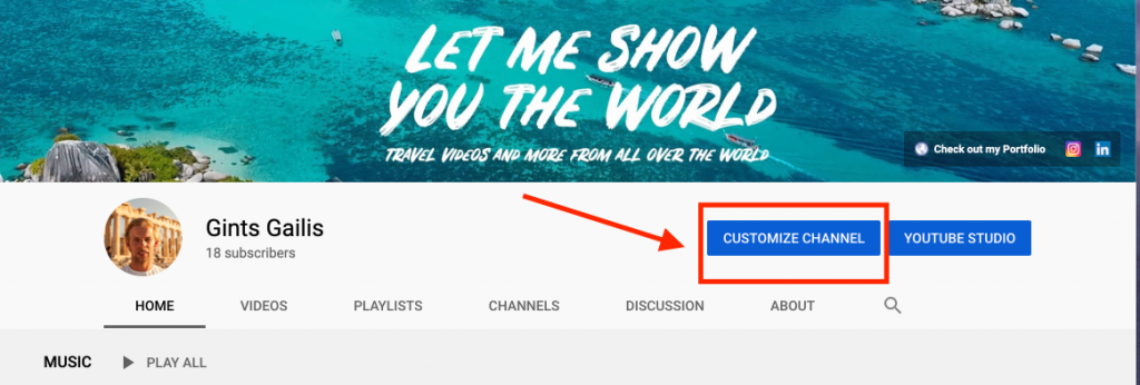 YT personal channel instruction picture