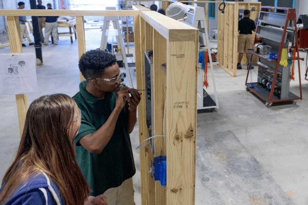 Students working at the MPACT facilities