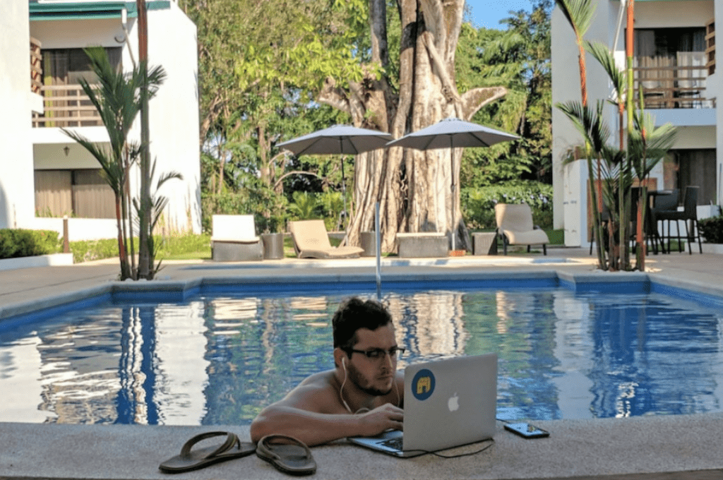 Outside office / swimming pool in Costa Rica