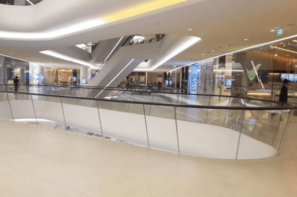 Empty retail center